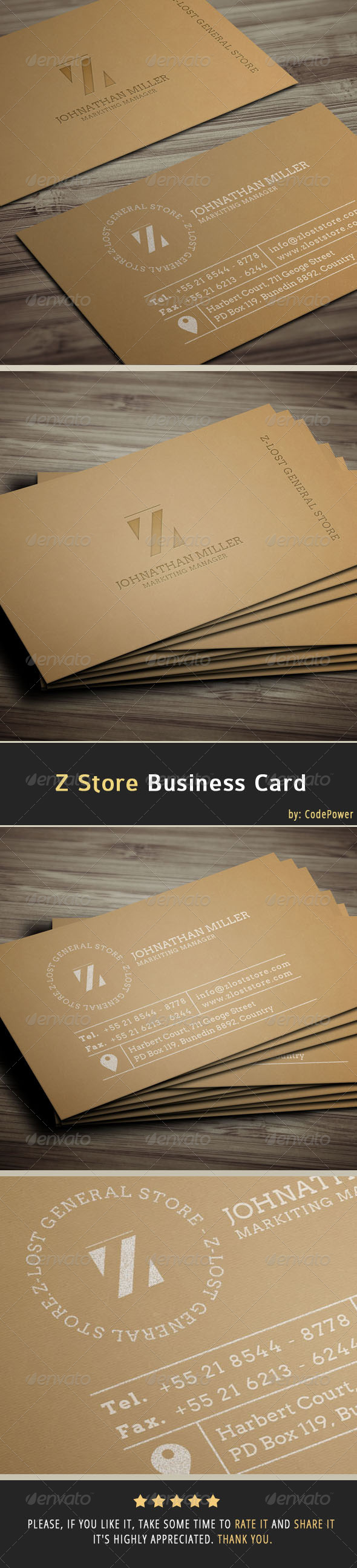 Z Store Business Card - Creative Business Cards