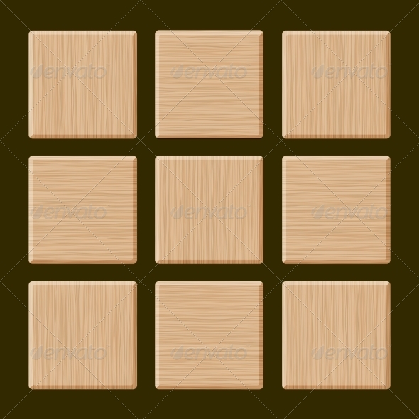 Set of Blank Wood Boxes - Patterns Decorative