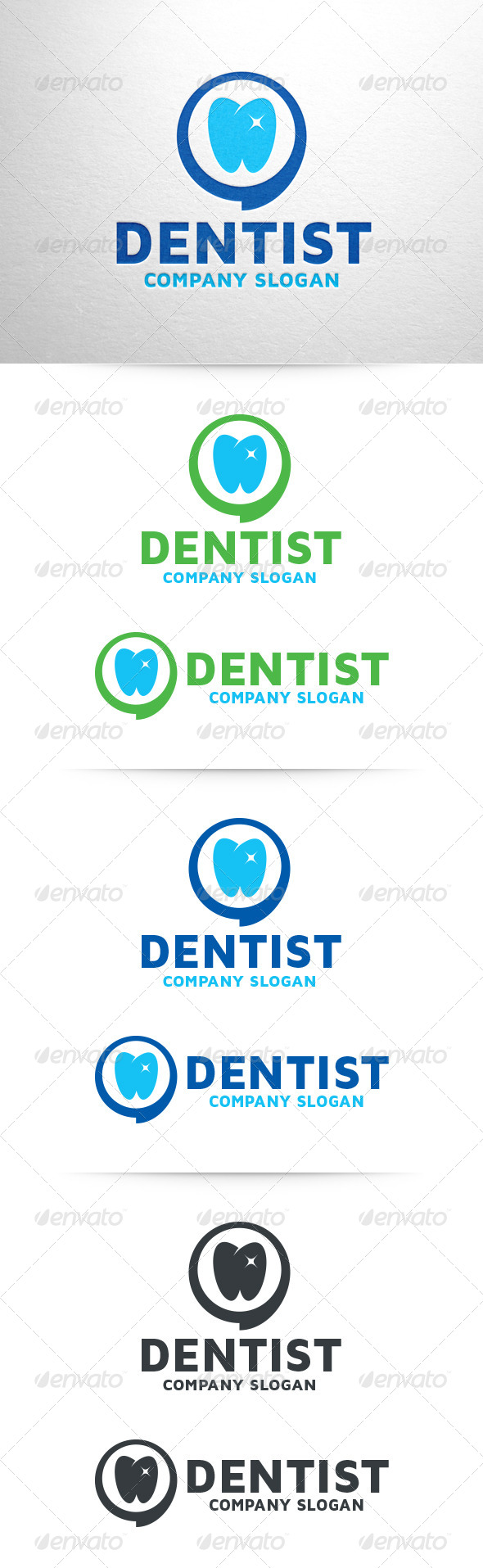 Dentist Logo Template - Symbols Logo Templates