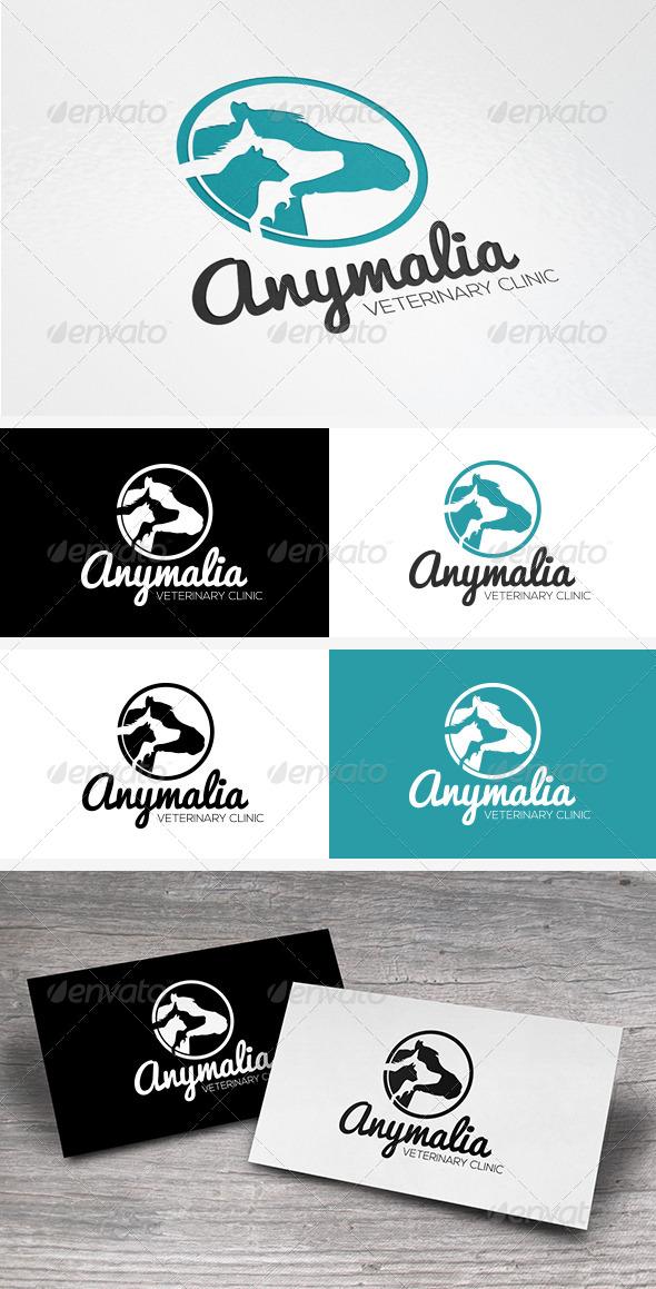 Pets Veterinary Clinic Logo Template - Animals Logo Templates