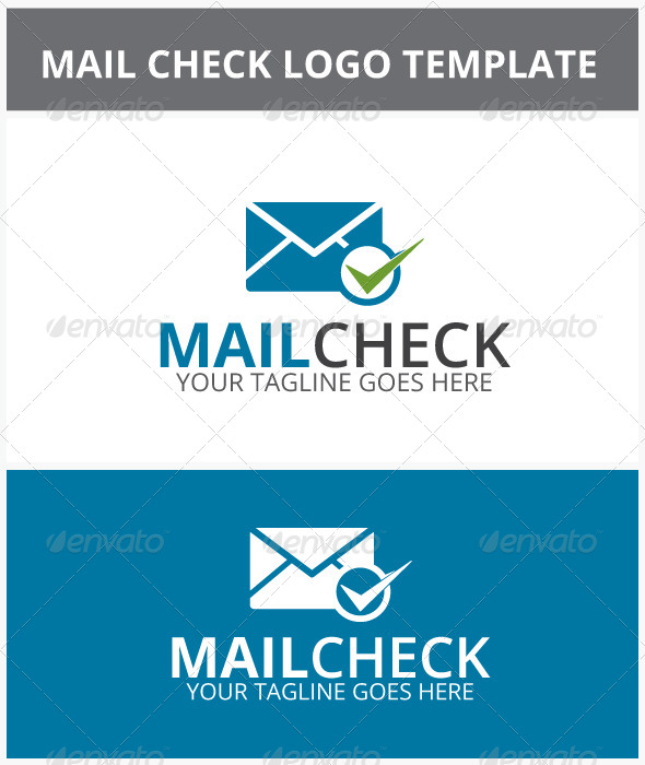 Mail Check Logo - Objects Logo Templates