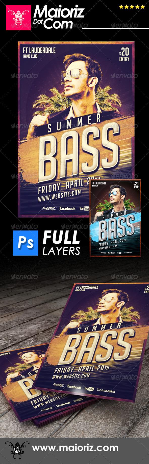 Summer Bass Flyer - Clubs & Parties Events