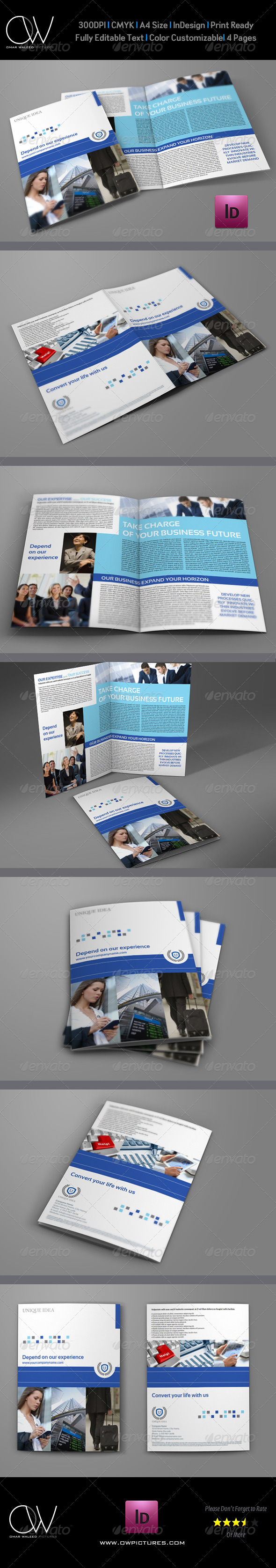 Company Brochure Bi-Fold Template Vol.20 - Corporate Brochures