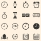 Vector Set of 16 Time Icons