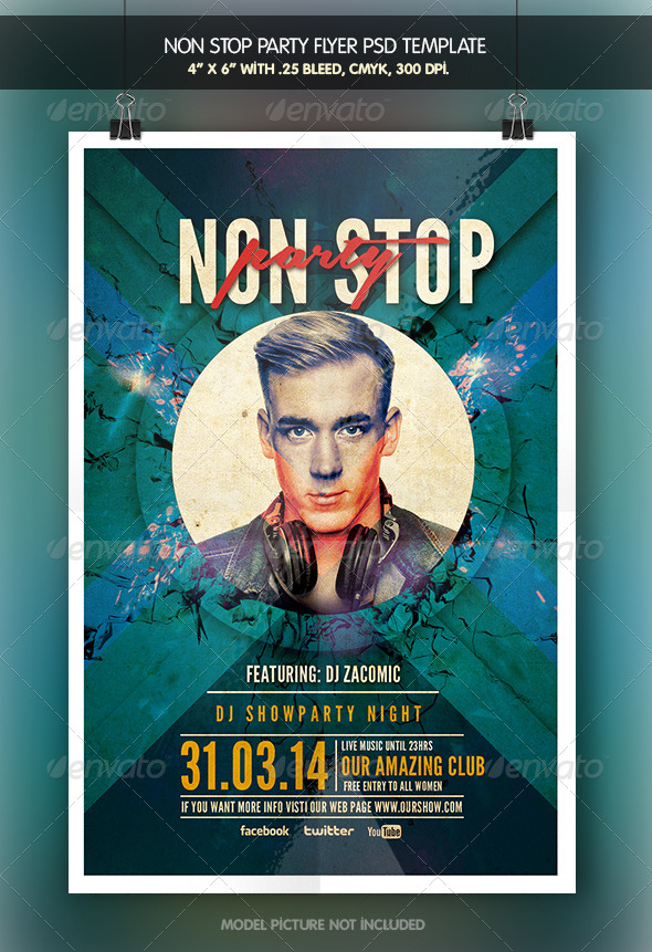 Non Stop Party | Flyer Template - Clubs & Parties Events