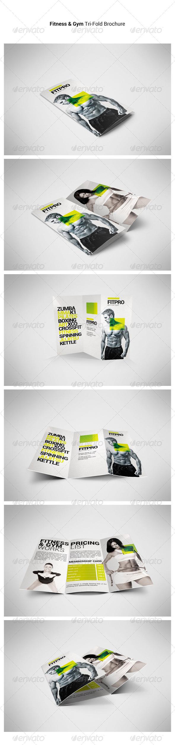 Fitness Tri-Fold Brochure - Brochures Print Templates