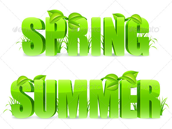 Spring and Summer Words - Seasons Nature