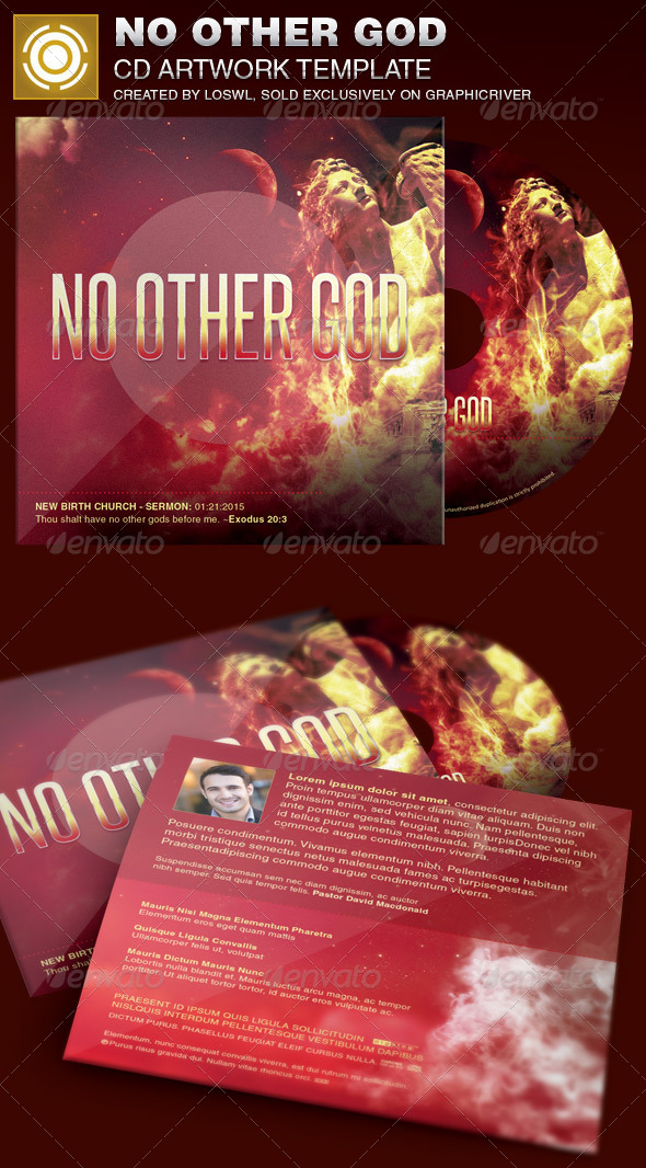 No Other God CD Artwork Template - CD & DVD Artwork Print Templates