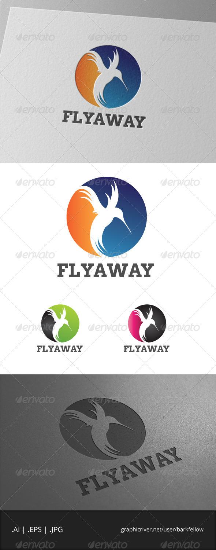 Fly Away Bird Template - Animals Logo Templates