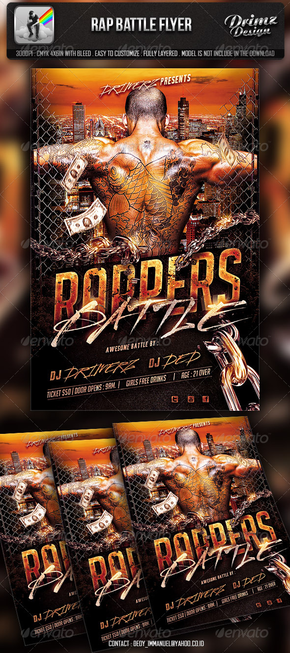 Rap Battle Flyer - Events Flyers
