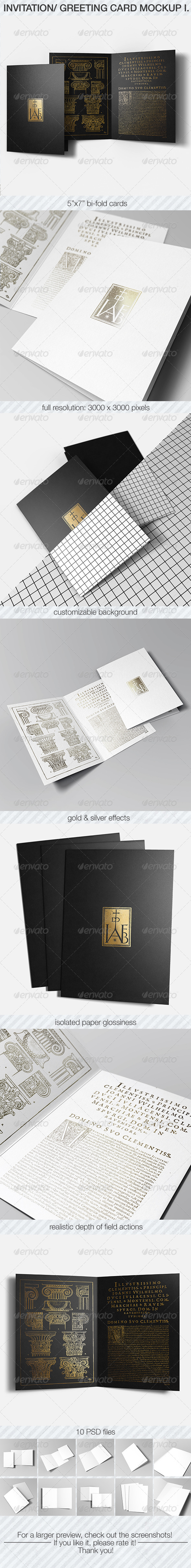 Invitation & Greeting Card Mockup Pack I. - Miscellaneous Print