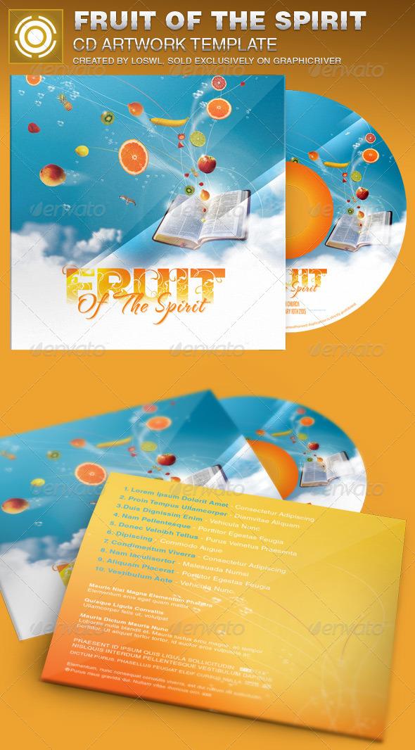 Fruit of the Spirit CD Artwork Template - CD & DVD Artwork Print Templates