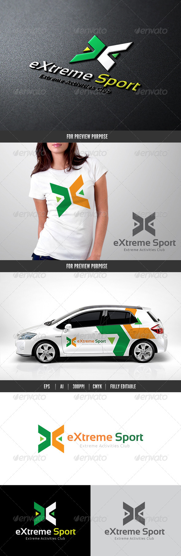 Extreme Sport - Letters Logo Templates