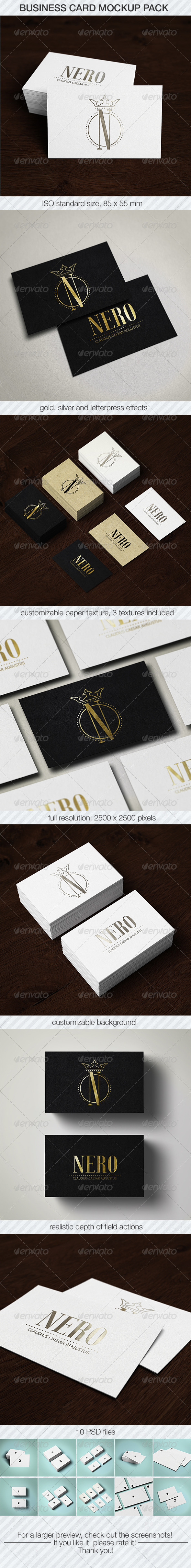 Business Card Mockup Pack by milostudio | GraphicRiver