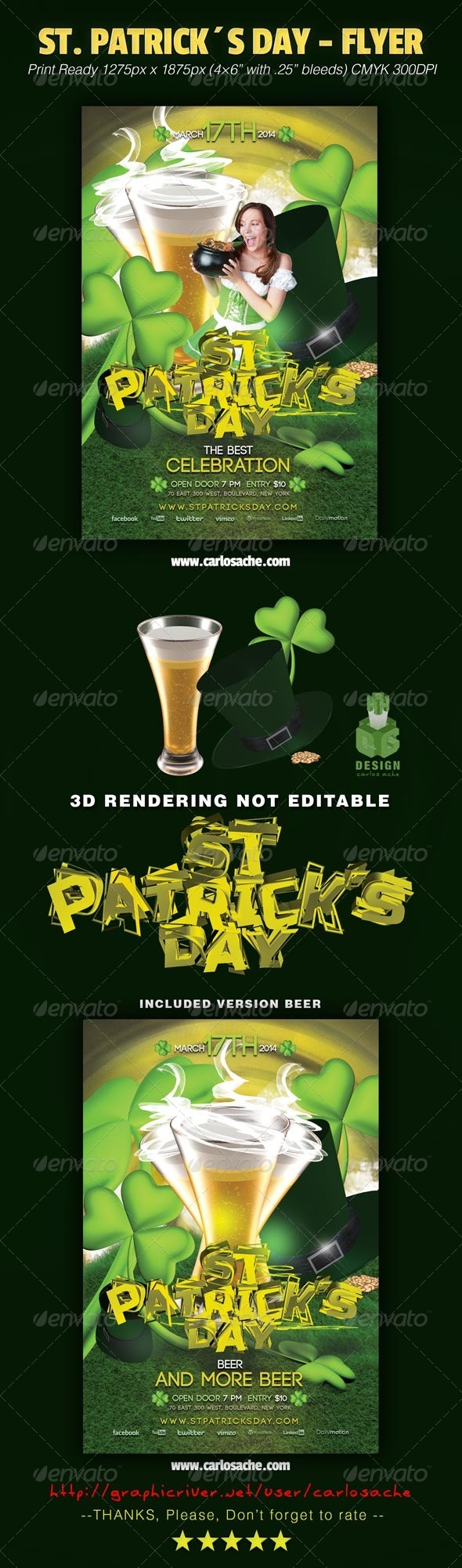 St. Patrick´s Day - Flyer - Holidays Events