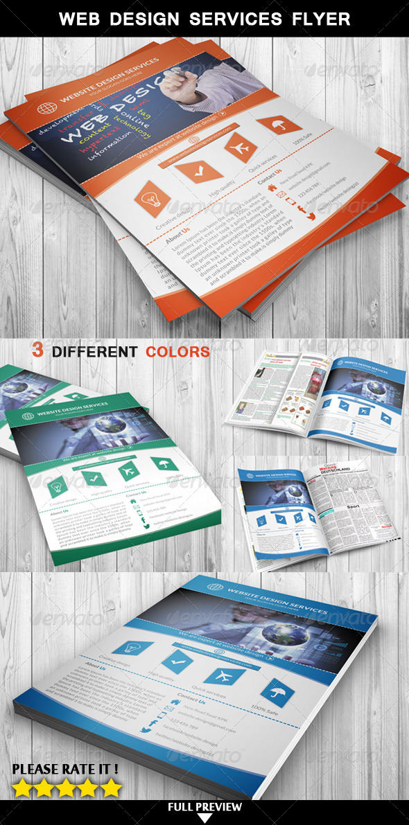 Web Design Services Flyer - Flyers Print Templates