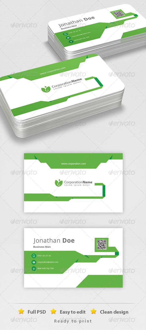 Corporate Business Cadr - Business Cards Print Templates