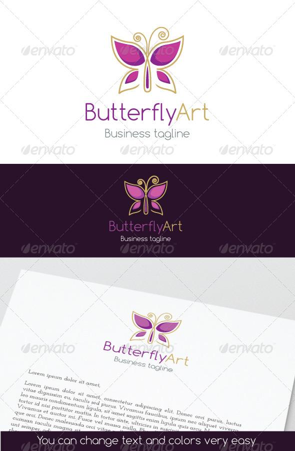 ButterflyArt Logo - Symbols Logo Templates