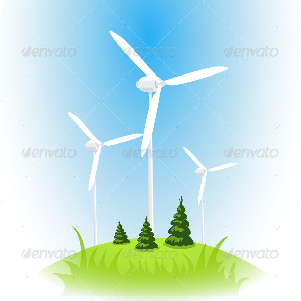 Wind Turbine Against the Blue Sky - Industries Business