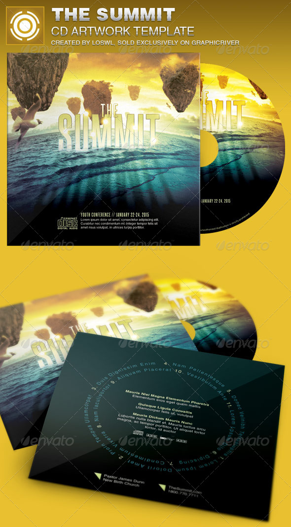 The Summit CD Artwork Template - CD & DVD Artwork Print Templates