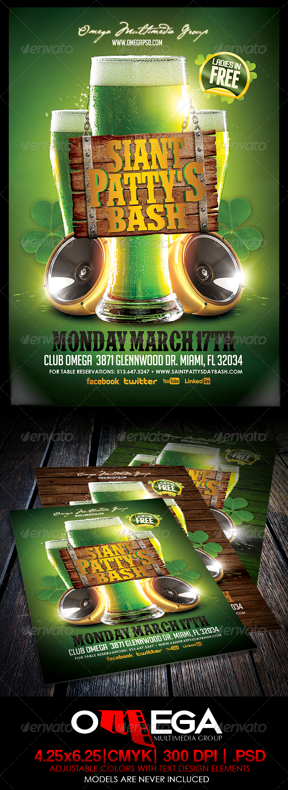 St. Patty's Bash - Events Flyers