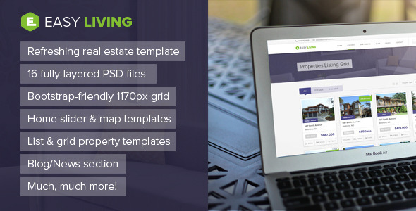 Easy Living – Real Estate PSD Template