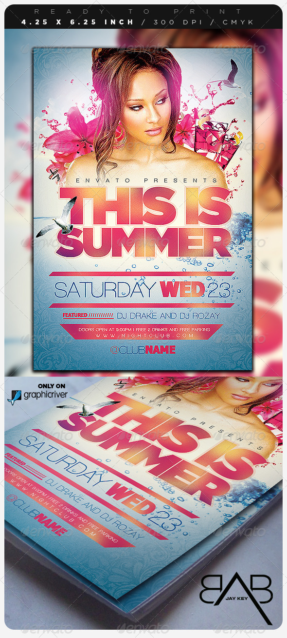 Summer Event Party Flyer - Events Flyers