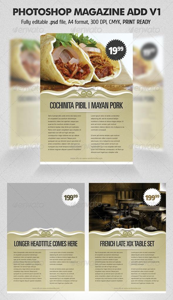 Photoshop Magazine Add V1 - Magazines Print Templates