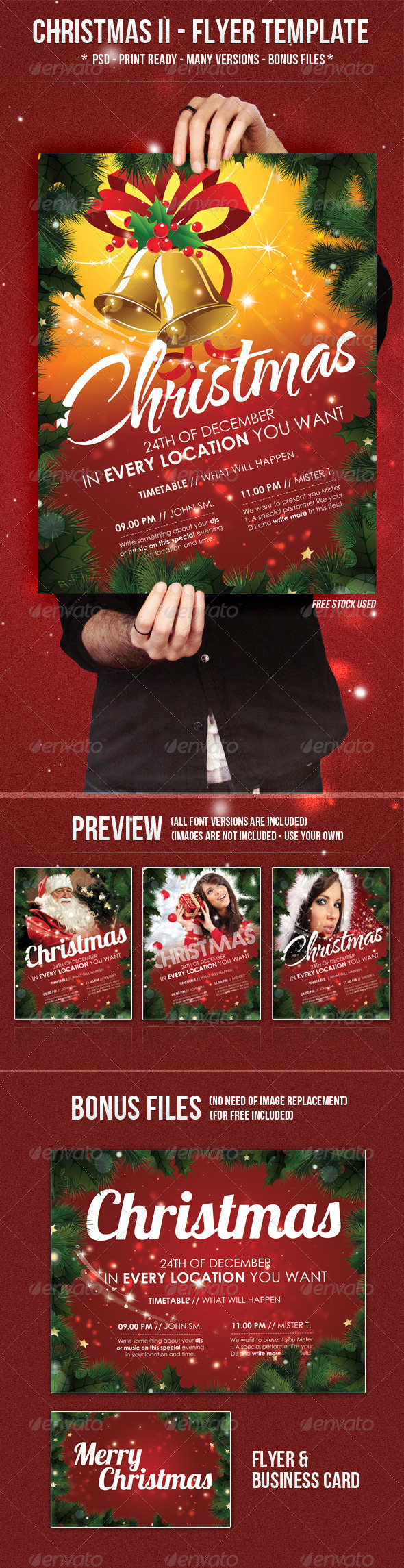 Christmas II - Flyer Template - Clubs & Parties Events