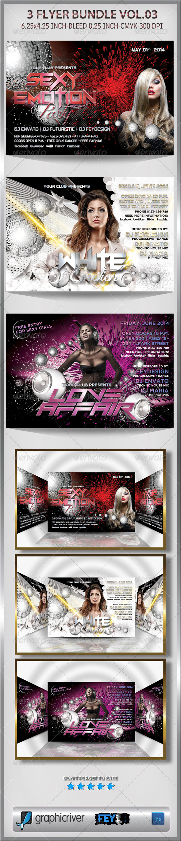 3 Flyer Bundle Vol.03 - Events Flyers