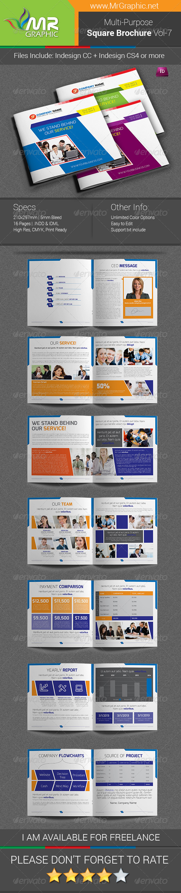 Multipurpose Square Brochure Template Vol-07 - Corporate Brochures