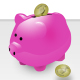 Piggybank & Coins - GraphicRiver Item for Sale