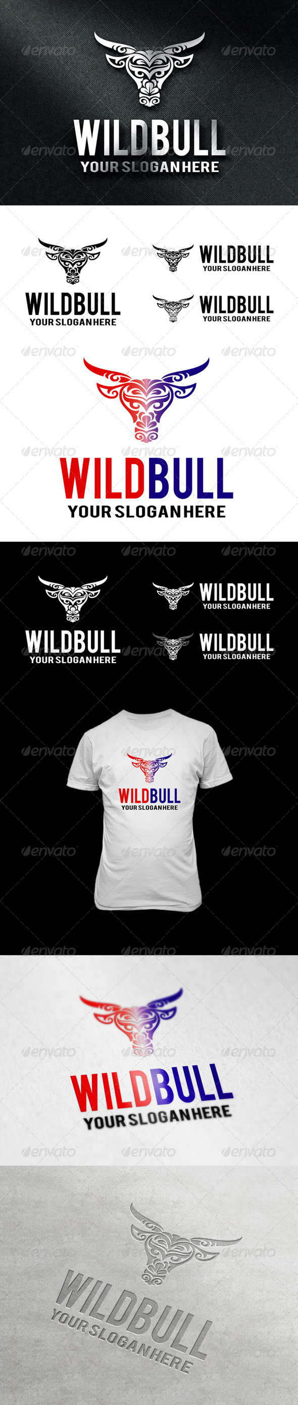 WildBull Logo - Animals Logo Templates