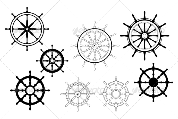 Nautical Ships Wheels - Man-made Objects Objects