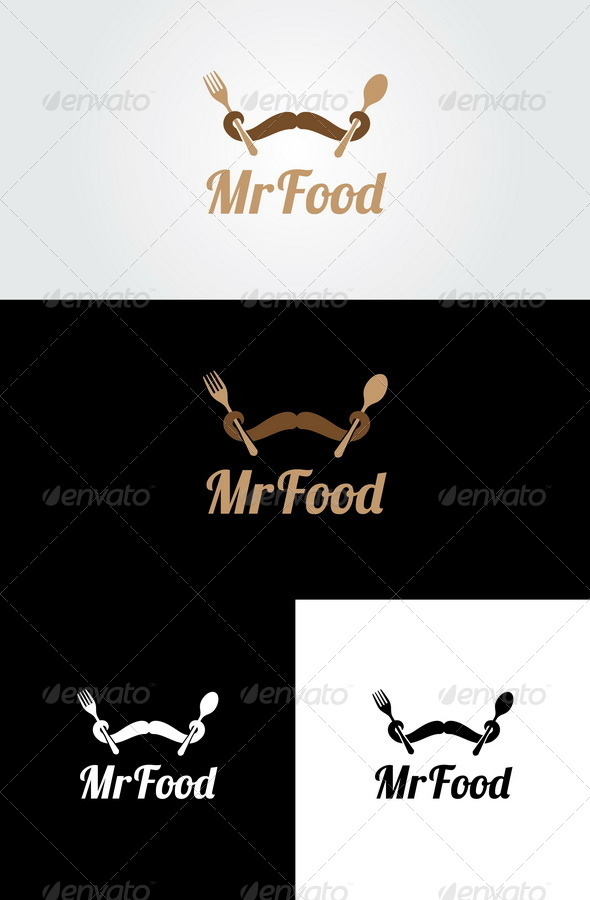 Mr Food Logo Template - Food Logo Templates