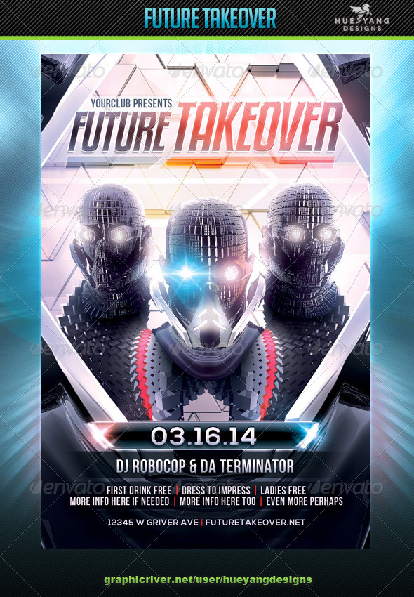Future Takeover Flyer - Clubs & Parties Events