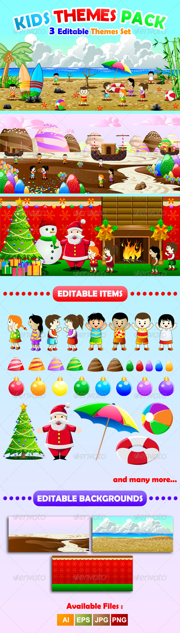 Kids Theme Pack - Seasons/Holidays Conceptual