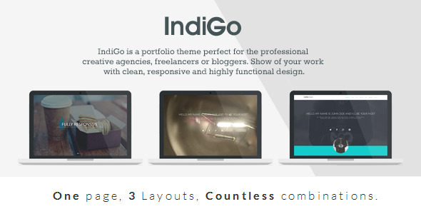 IndiGo - Responsive One Page Template by Brankic1979
