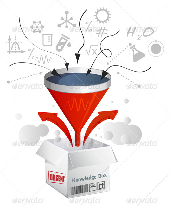 Knowledge Assimilation Box - Illustration - Concepts Business