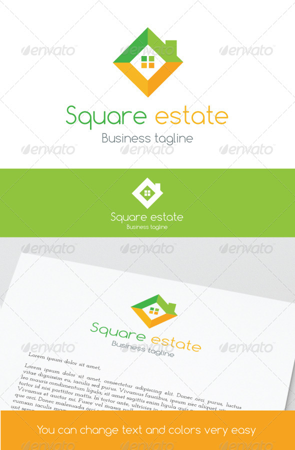 Square Estate - Buildings Logo Templates