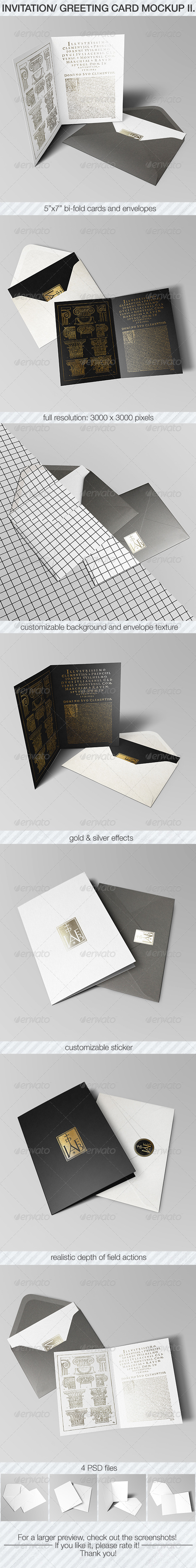 Invitation & Greeting Card Mockup Pack II. - Miscellaneous Print