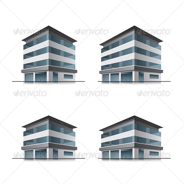 Hotel or Office Buildings  - Buildings Objects