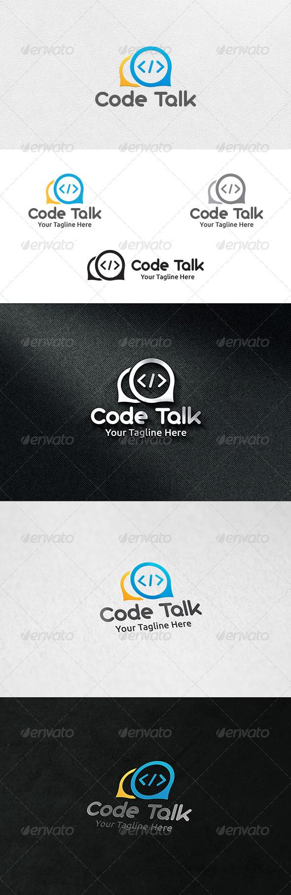 Code Talk - Logo Template - Symbols Logo Templates