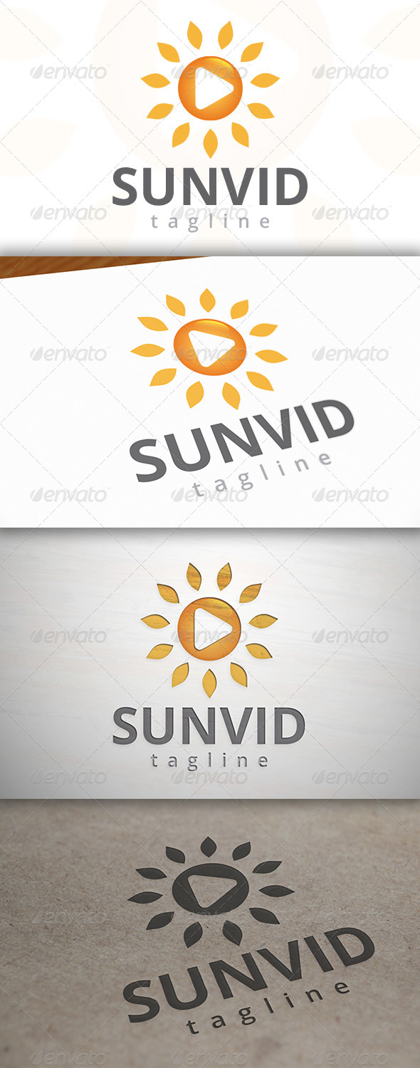 Sun Video Logo - Symbols Logo Templates