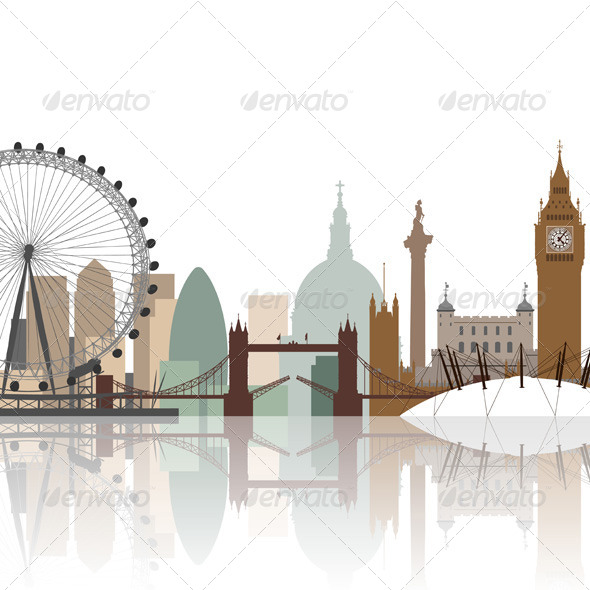 London Cityscape - Buildings Objects