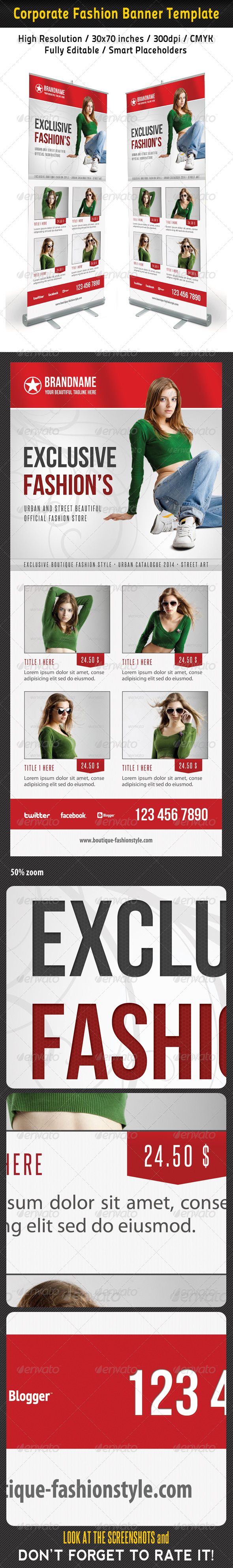 Fashion Multipurpose Banner Template 33 - Signage Print Templates