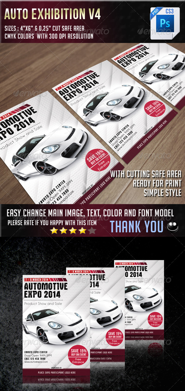 Auto Exhibition V4 - Events Flyers