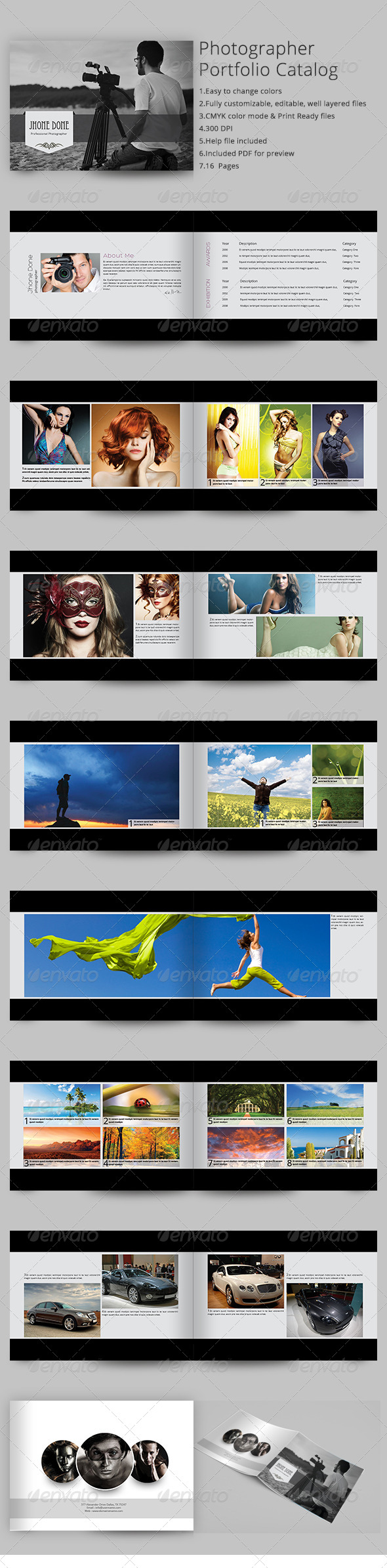 Photographer Portfolio Catalog - Portfolio Brochures