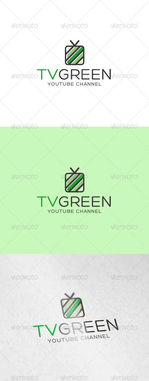 Tv Green Logo - Objects Logo Templates