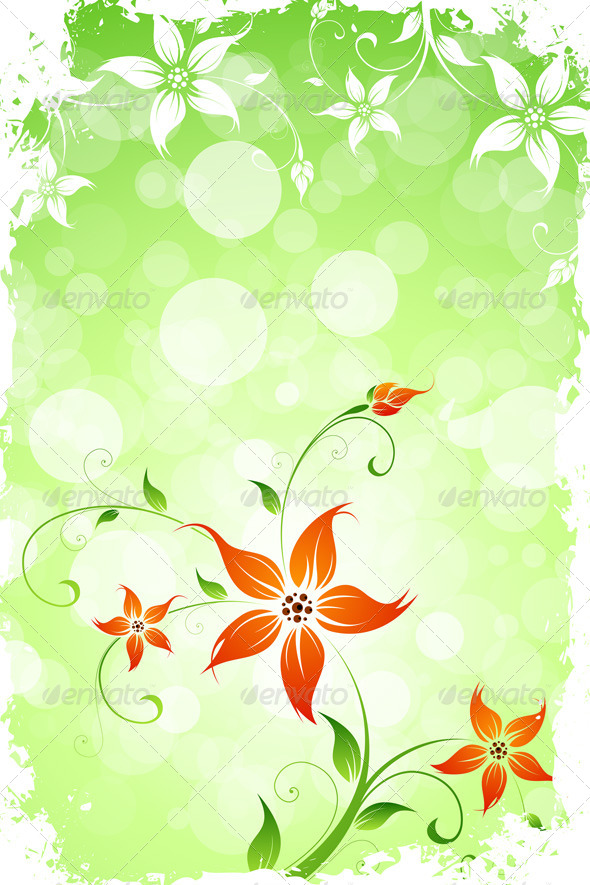 Grungy Flower Background - Flowers & Plants Nature